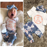 Isn't She Lovely Slate Floral Newborn Outfit - Gigi and Max