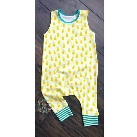 Pineapple- Tank Romper - Gigi and Max