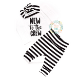 Gender Neutral New to the Crew set wide stripe