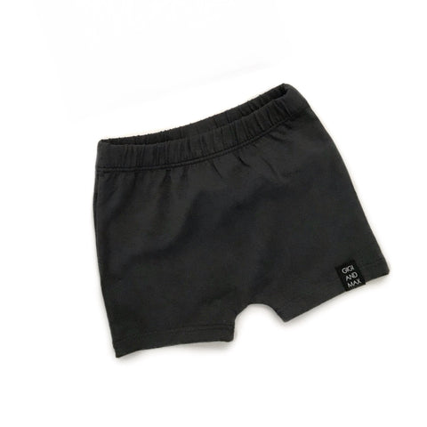 Solid Charcoal Shorts only - Gigi and Max