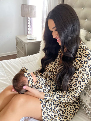 Gia Leopard Mommy Robe - Gigi and Max