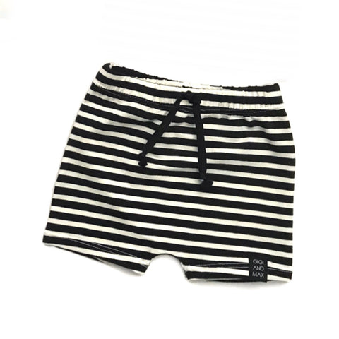 Black and White stripe Shorts only - Gigi and Max