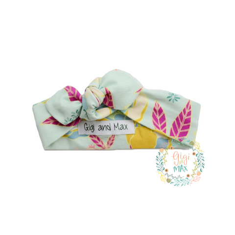 Mint floral headband - Gigi and Max