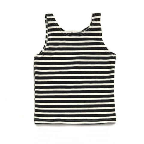 Black and White stripe Tank only - Gigi and Max