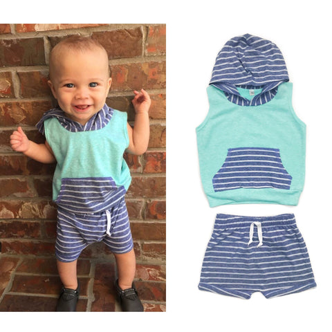 Tank Hoodie and Shorties Set Handmade - Boy OR Girl you choose! - Gigi and Max