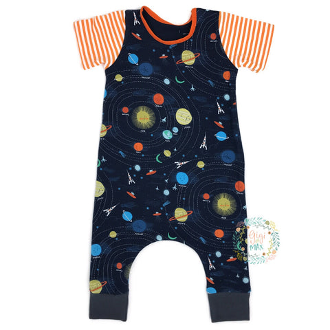 Solar System Space - Short Sleeve romper - Gigi and Max