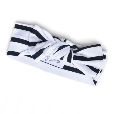 Stripe Bow Headband - Gigi and Max