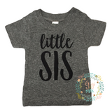Little SIS Gray Triblend Tee