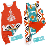 Aztec TeePee 2 sided Tank Top Romper