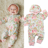 Green Floral Grace 2 way zip Romper - DOUBLE LAYER read sizing details (runs big) - Gigi and Max