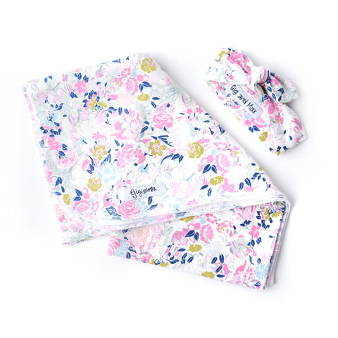 "Swaddle Ella Floral -  34"" X 34"" - Gigi and Max"