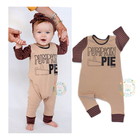 Pumpkin Pie Thanksgiving romper
