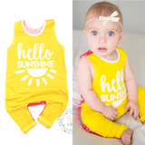 Hello Sunshine two-sided Tank Top Romper