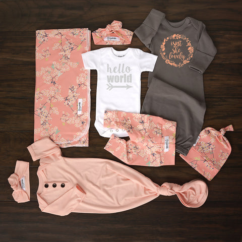 Ultimate baby girl Newborn going home outfit bundle (Pink Floral) - Gigi and Max