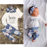 Love at First Sight Slate Floral Newborn Outfit - Gigi and Max