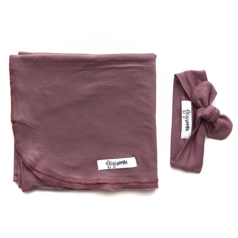 Mauve Purple Lightweight Swaddle blanket - Gigi and Max