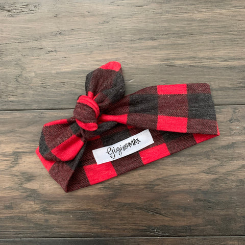 Buffalo Plaid headband - Gigi and Max
