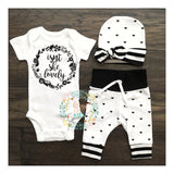 Small Hearts Isn't she Lovely Newborn Outfit