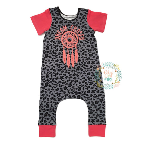 Cheetah Dream Chaser Short Sleeve Romper