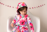 Watercolor Emilia floral 2 way zip Romper - DOUBLE LAYER read sizing details (runs big) - Gigi and Max