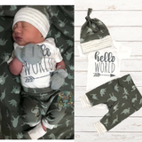 Hello World Dino Newborn Outfit - Dinosaurs - Gigi and Max