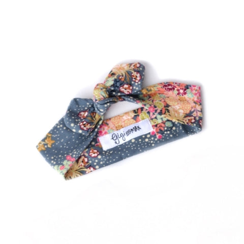 Bloom floral topknot headband - Gigi and Max