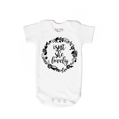 isnt she lovely black - short sleeve - Gigi and Max
