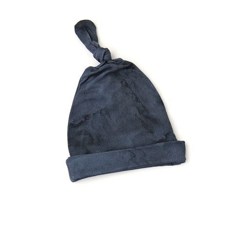Jack Navy Marble Newborn knot hat - Gigi and Max