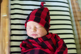 Hudson Buffalo Plaid Newborn knot hat - Gigi and Max