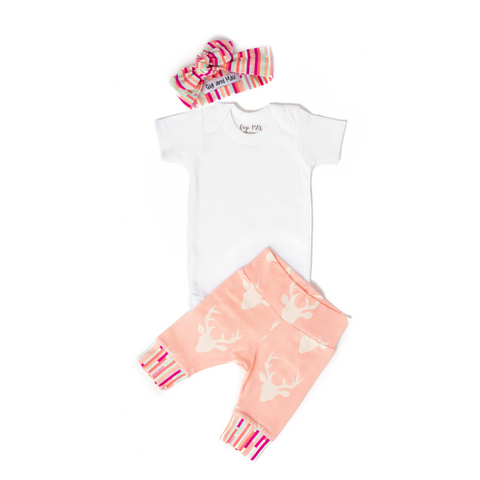 Light Pink Deer Headband - Short Sleeve - Gigi and Max