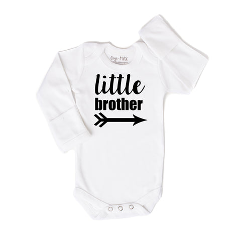 little brother arrow black - long sleeve - Gigi and Max