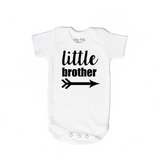 Little Brother black and gray triangles newborn outfit - Gigi and Max