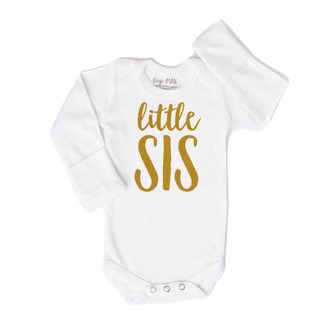 little sis gold - long sleeve - Gigi and Max