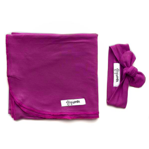 Isla Magenta Lightweight Swaddle blanket - Gigi and Max