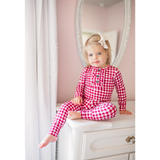 Emery Maroon Gingham Ruffle Two Piece - Gigi and Max