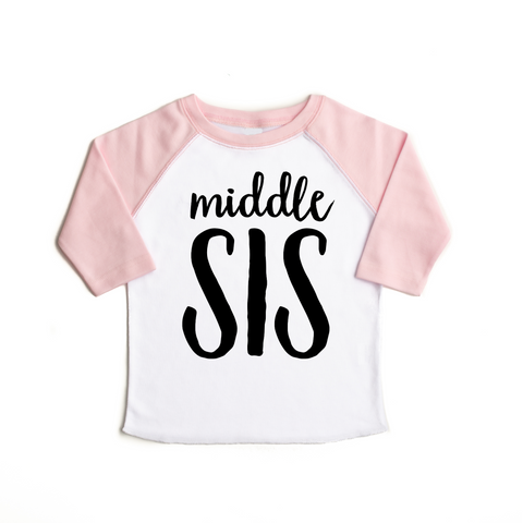 Light Pink Middle SIS Raglan - Gigi and Max