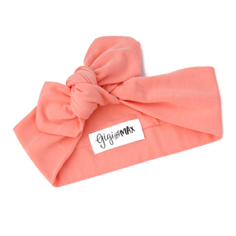 Mila Peach Topknot Headband - Gigi and Max