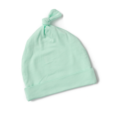 Finley Mint Newborn knot hat - Gigi and Max