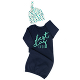 2 Piece Set - Best day Ever OR Let the Adventure Begin (1 gown and hat) - Gigi and Max