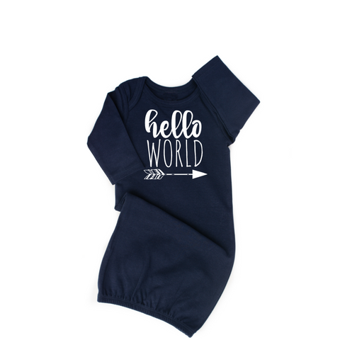 Gown Hello World Navy - Gigi and Max