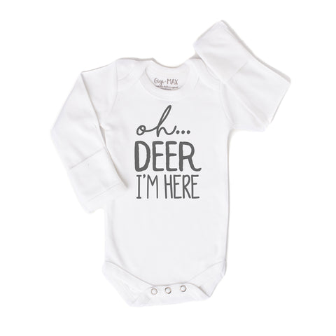 oh deer gray - long sleeve - Gigi and Max