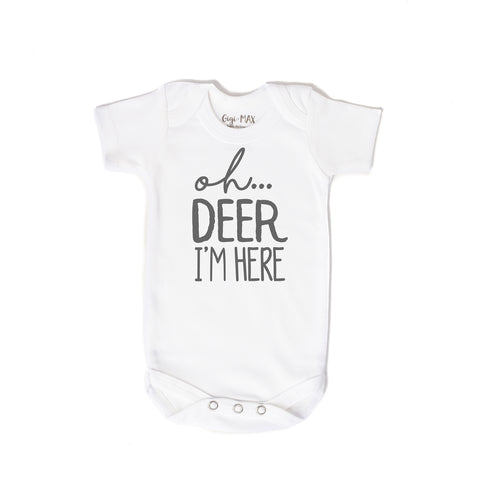 oh deer gray - short sleeve - Gigi and Max
