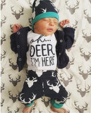 Buck Navy Oh Deer I'm Here Newborn Outfit - Gigi and Max