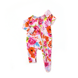 Paige Floral Newborn Ruffle ZIP - Gigi and Max