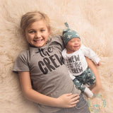 New to the Crew Slate Cross Newborn Outfit - Gigi and Max