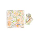 "Nora Peach Peony Floral swaddle blanket -  34"" X 34"" - Gigi and Max"