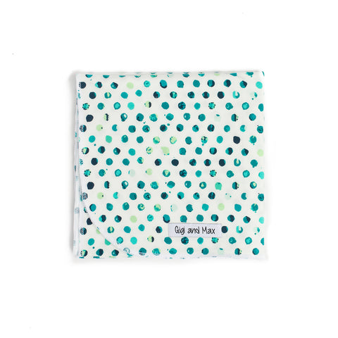 "Polka dot Swaddle - 34""x34"" Gender Neutral ** Please allow up to 3 weeks for processing time ** - Gigi and Max"