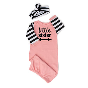 Little sister Handmade Pink and Stripe gown