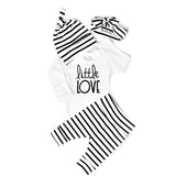 Gender Neutral Little Love set thin stripe - Gigi and Max