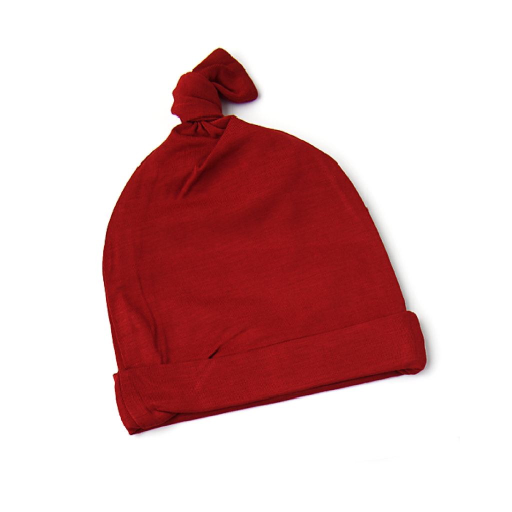 Sawyer Red Rust Newborn knot hat - Gigi and Max
